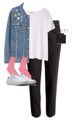 """""""Untitled #13050"""" by alexsrogers ❤ liked on Polyvore featuring T By Alexander Wang, MANGO, Stay Home Club, Jolly Awesome, Comme des Garçons and Yves Saint Laurent"""