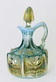 Fenton made the Cactus pattern for Levay in aqua opal in 1979 and red in 1982