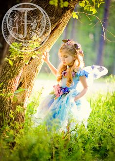 I love little girls playing fairy.  They have an entire life for serious adult stuff so I love to let them be little and innocent and enjoy some fantasy and magic.... We have access to so many different photographers.. thinking I need to get some done for her! : )