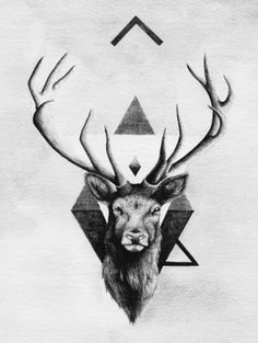 Stag head. Strength.