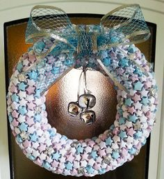 Christmas Wreath  Origami Lucky Stars. by TreacleTownTreasures, £15.00