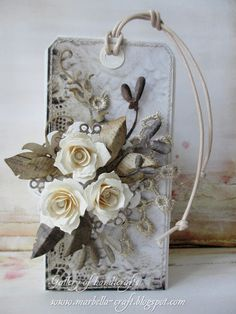Gallery of handicrafts - beautiful tags and flowers