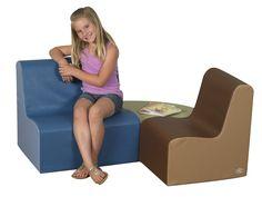 3 Piece Kids School Age Gathering Corner Seating Set