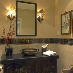 Asian design bathroom wall lights