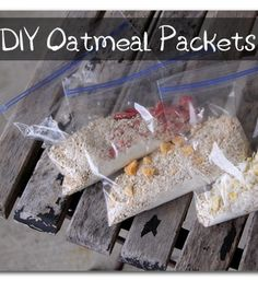 you can make your own oatmeal packs - so smart!  Sugar Bee Crafts: DIY Oatmeal Packets
