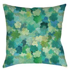 Aqua Bloom Water Blends Indoor / Outdoor Throw Pillow