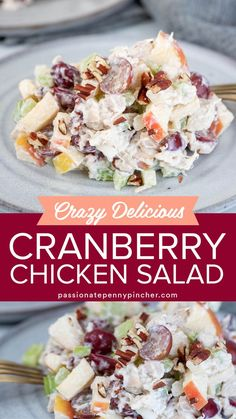 Best Chicken Salad Recipe, Chicken Salad Recipe With Almonds, Chicken Salad With Cranberries, Dried Cranberries, Grape Recipes, Walnut Recipes, Cranberry Recipes, Fruit Recipes, Summer Recipes