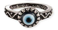 Evil Eye Talisman Ring - SILVER