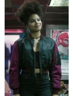 9b57f8d5a5a Deadpool 2 Domino Zazie Beetz Bomber Jacket