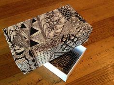 Zentangled Box Tutorial.  http://sewtangled.blogspot.ca/
