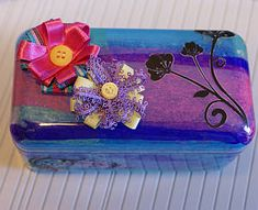 tissue paper craft, altered art, gift box, recyclable - what to do with Ferrero Roche boxes :)