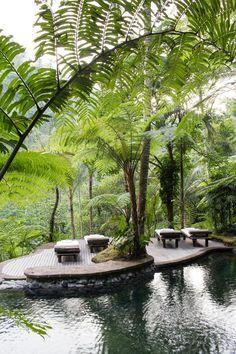 The Kedara water gardens in COMO Shambhala Estate, Bali.: