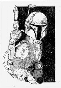 Star Wars - Boba Fett by Alex Sanchez *