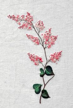 The Beauty of Japanese Embroidery - Embroidery Patterns Embroidery Flowers Pattern, Sashiko Embroidery, Japanese Embroidery, Hand Embroidery Designs, Ribbon Embroidery, Embroidered Flowers, Beaded Embroidery, Flower Patterns, Cross Stitch Embroidery