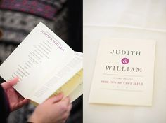 simple DIY wedding program | Judith & Will's Handmade, Fall Virginia Wedding at the Inn at Vint Hill | Images: Ben & Sophia Photography