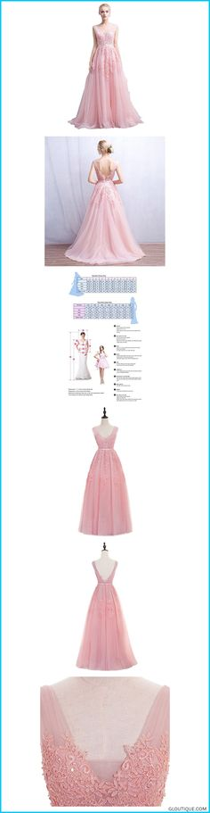 641b9582f2d76 MisShow Women s Double V Neck Applique Long Prom Tulle Evening Gowns Formal