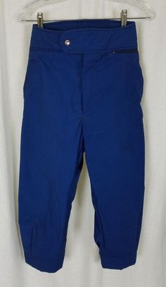 Vintage LL Bean Blue Cotton Winter Outdoor Ski Knickers Cropped Pants Womens 10 #LLBean