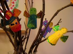 Make a wish for the new year fairy tree! Halloween Crafts, Holiday Crafts, Holiday Fun, Winter Fun, Winter Holidays, New Years With Kids, Crafts To Make, Crafts For Kids, Winter Activities For Kids