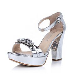 【思加图staccato 9CN23BL3 银色】STACCATO/思加图 银色贴膜胎牛皮女皮凉鞋9CN23BL3夏季