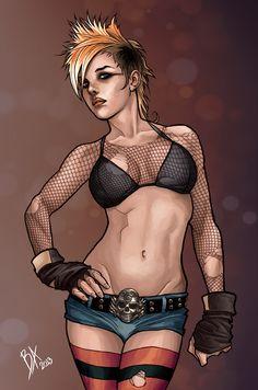 Punk girl by ~bauriema on deviantART
