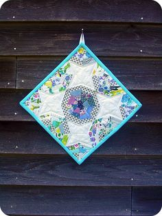 Love spiderweb quilts, and this mini is adorable! from heartbreakhomestead