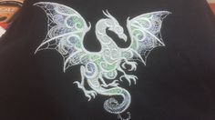 White Dragon Tote Bag by ScarftasticCreations on Etsy