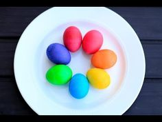 DIY Vibrant Easter Eggs  Get the most amazing BRILLIANT colors with simple food coloring!