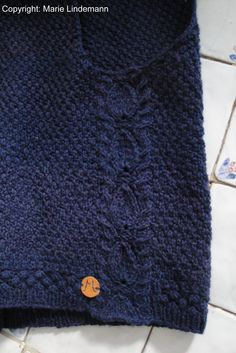 Detail from a handknitted vest I designed myself