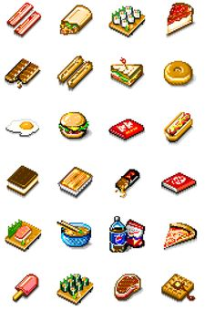 Roberto Christen — Fun pixel food icons