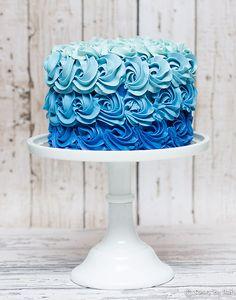 Rosette Ombre cake