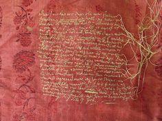rosalind wyatt - from storytelling through textiles Contemporary Embroidery, Textile Fiber Art, Diy Couture, Textiles, Thread Art, Embroidery Thread, Fabric Art, Hand Stitching, Needlework