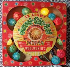 Vintage Christmas Lights from Woolworth's. these were on our tree until they all burned out