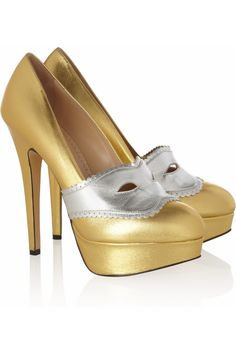 Moretta leather pumps   Charlotte Olympia   60% off   THE OUTNET