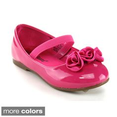 Jelly Beans Moshana Toddler's Little Girl Flower Deco Ballet Flats