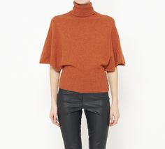 Neiman Marcus Orange Sweater