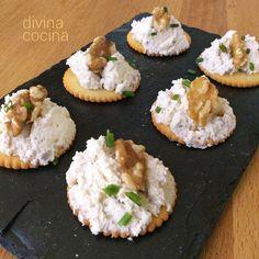 Mousse de queso y nueces < Divina Cocina