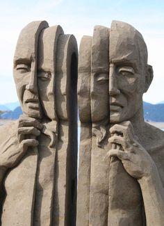 Figurative Sand Sculptures by Carl Jara