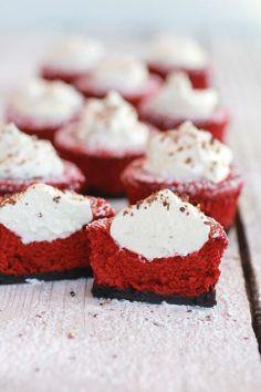 Red Velvet Mini Cheesecake Pies