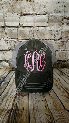 281167a6f47 14 Best Monogrammed Trucker Hats images