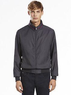 Gucci Nylon Diamante Jacquard Blouson Jacket | Coat, Jacket and Clothing