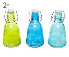 Set de 6 botellas de cristal Capri Style