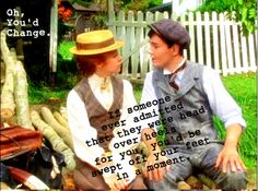 Oh Anne & Gilbert! Love them! I wish I had a Gilbert Blythe of my own!