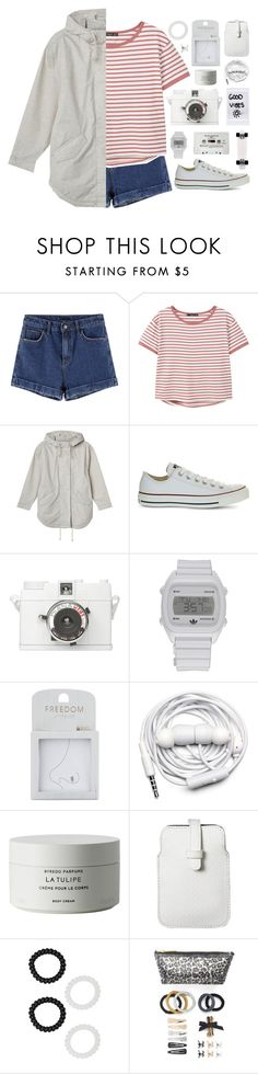 """""""just kids at heart // my dream wardrobe pt.33"""" by undercover-martyn ❤ liked on Polyvore featuring MANGO, Monki, Converse, Lomography, adidas, Topshop, CASSETTE, Urbanears, Byredo and Mossimo"""