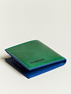 Balenciaga Men's Contrast Colour Flip Wallet