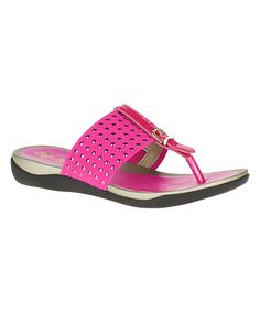 120d5e73927ec Rhinestone accents add a dazzling touch to this thong sandal featuring an  elastic strap for casual