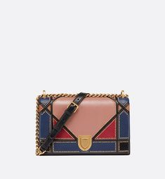 Diorama bag in multi-coloured patchwork - Dior Dior Fashion, Fashion Bags, Womens Fashion, Fashion Trends, Dior Diorama Bag, Sacs Design, Womens Designer Bags, Luxury Bags, Online Boutiques