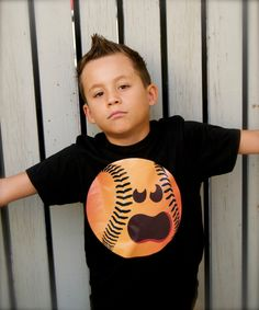 Boys Sports Fanatic Baseball with face Halloween Pumpkin Shirt! by PaisleesandPigtails on Etsy https://www.etsy.com/listing/207301015/boys-sports-fanatic-baseball-with-face
