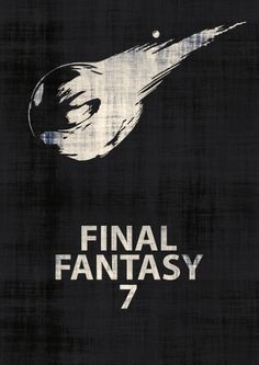 Final Fantasy 7 Minimalist Poster