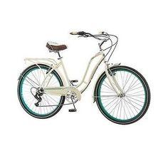 "WOMEN'S CREAM CRUISER BIKE 26"" VINTAGE RETRO BICYCLE BEACH TIRES SEAT CITY TOUR - http://sports.goshoppins.com/cycling-equipment/womens-cream-cruiser-bike-26-vintage-retro-bicycle-beach-tires-seat-city-tour/"