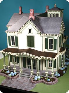 This is not a dollhouse, but a house cake! Amazing.